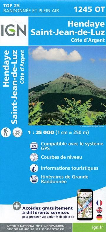 1245OT St-Jean-de-Luz, Hendaye | wandelkaart 1:25.000 9782758535874  IGN TOP 25  Wandelkaarten Baskenland