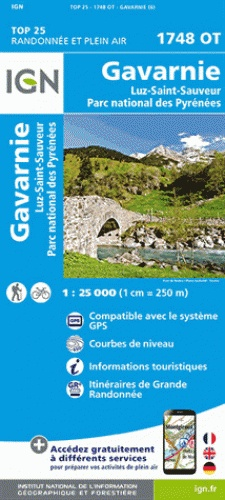 1748OT Gavarnie, Cauterets | wandelkaart 1:25.000 9782758535928  IGN IGN 25 Franse Pyreneeën  Wandelkaarten Franse Pyreneeën