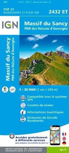 2432ET  Massif du Sancy, St-Nectaire | wandelkaart 1:25.000 9782758535935  IGN IGN 25 Auvergne  Wandelkaarten Auvergne