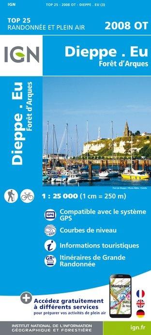 2008OT   Dieppe, le Tréport | wandelkaart 1:25.000 9782758536123  IGN IGN 25 Normandië  Wandelkaarten Normandië