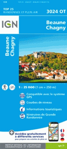 3024OT   Beaune | wandelkaart 1:25.000 9782758536161  IGN TOP 25  Wandelkaarten, Wijnreisgidsen Bourgogne