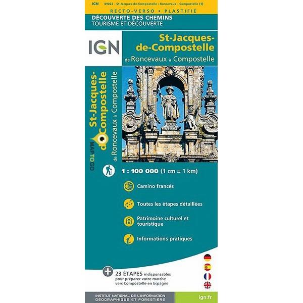 St-Jacques-de-Compostelle 1:100.000 (E) 9782758536345  IGN   Santiago de Compostela, Wandelkaarten Noordwest-Spanje, Compostela, Picos de Europa
