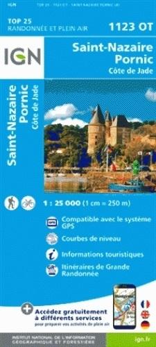 1123OT  St.Nazaire, Pornic, St-Brévin | wandelkaart 9782758536918  IGN IGN 25 Centre/Loire/Atlantique  Wandelkaarten Loire & Centre