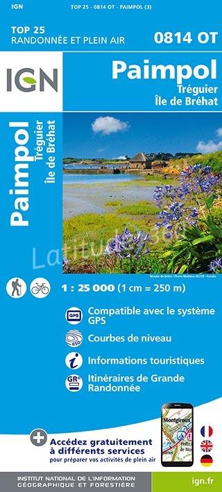 0814OT  Paimpol, Pleubian, Plouézec | wandelkaart 1:25.000 9782758536949  IGN IGN 25 Bretagne  Wandelkaarten Bretagne