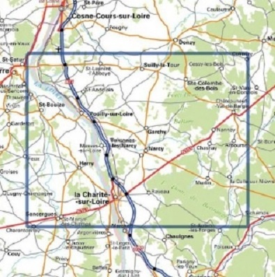 wandelkaart 2523-SB La Charité-sur-Loire 1:25.000 9782758537236  IGN IGN 25 Loire & Centre  Wandelkaarten Bourgogne, Loire & Centre
