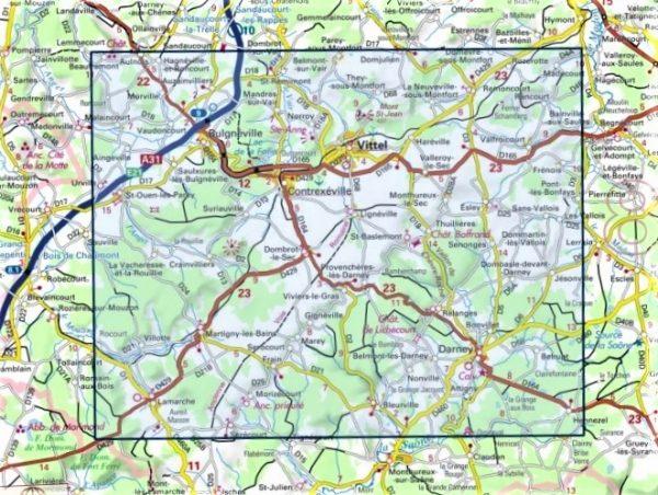wandelkaart 3318-SB Vittel, Lamarche, Contrexéville 1:25.000 9782758537465  IGN IGN 25 Lotharingen  Wandelkaarten Lotharingen, Nancy, Metz