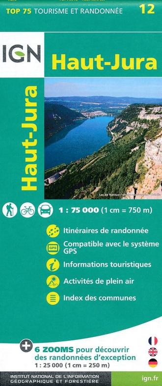 Haut-Jura |  IGN 1:75.000 | IGN overzichts- en wandelkaart 9782758538554  IGN TOP 75  Fietskaarten, Wandelkaarten Franse Jura