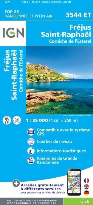 3544ET   Fréjus, Saint-Raphaël | wandelkaart 1:25.000 9782758538745  IGN IGN 25 Côte-d'Azur, Var  Wandelkaarten Côte d'Azur
