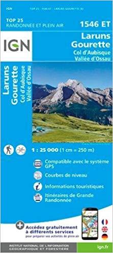 1546ET   Laruns, Col d'Aubisque | wandelkaart 1:25.000 9782758538790  IGN IGN 25 Franse Pyreneeën  Wandelkaarten Franse Pyreneeën
