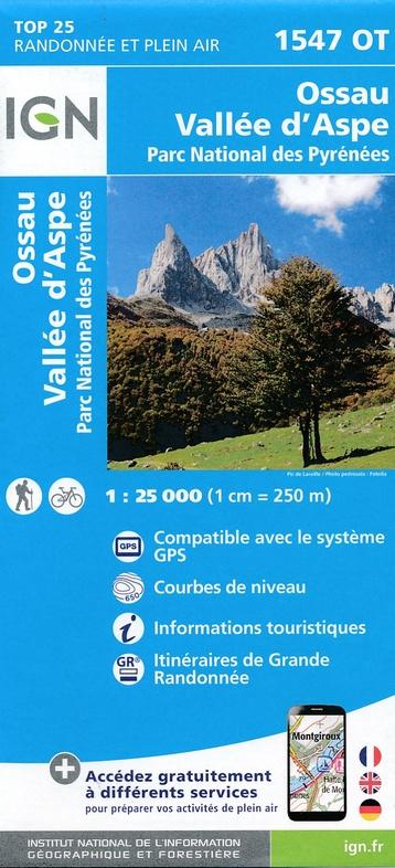 1547OT   Pic du Midi d'Ossau | wandelkaart 1:25.000 9782758538813  IGN IGN 25 Franse Pyreneeën  Wandelkaarten Franse Pyreneeën