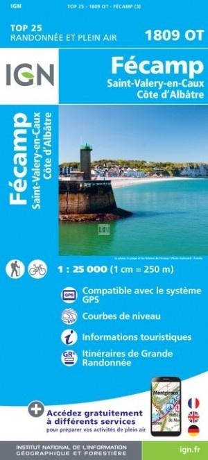 1809OT  Fécamp | wandelkaart 1:25.000 9782758538844  IGN IGN 25 Normandië  Wandelkaarten Normandië