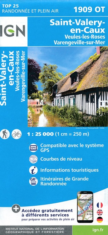 1909OT  Saint-Valery-en-Caux, Veules-les-Roses | wandelkaart 1:25.000 9782758538851  IGN IGN 25 Normandië  Wandelkaarten Normandië