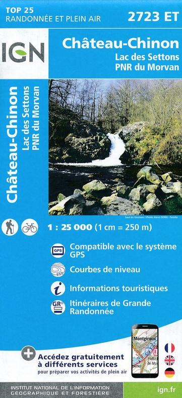 2723ET  Château-Chinon | wandelkaart 1:25.000 9782758538875  IGN IGN 25 Bourgogne & Morvan  Wandelkaarten Morvan