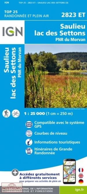 2823ET  Saulieu, Lucenay-l'Évêque | wandelkaart 1:25.000 9782758538882  IGN TOP 25  Wandelkaarten Morvan