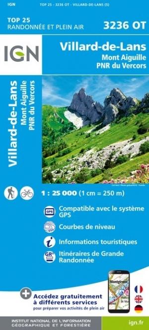 3236OT Villard-de-Lans - Vercors | wandelkaart 1:25.000 9782758538899  IGN TOP 25  Wandelkaarten Franse Alpen: noord