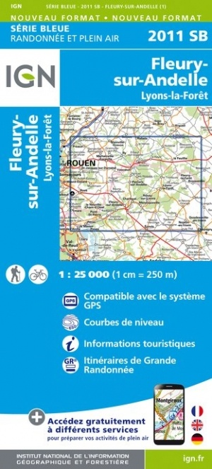 SB-2111SB Fleury-sur-Andelle, Lyons-la-Forêt  | wandelkaart 1:25.000 9782758539032  IGN Serie Bleue (vernieuwd)  Wandelkaarten Normandië