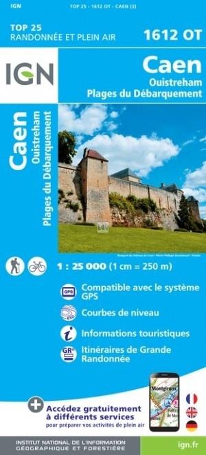 1612OT  Caen, Ouistreham | wandelkaart 1:25.000 9782758539117  IGN IGN 25 Normandië  Wandelkaarten Normandië