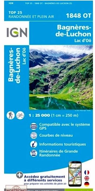 1848OT  Bagnères de Luchon | wandelkaart 1:25.000 9782758539520  IGN TOP 25  Wandelkaarten Franse Pyreneeën
