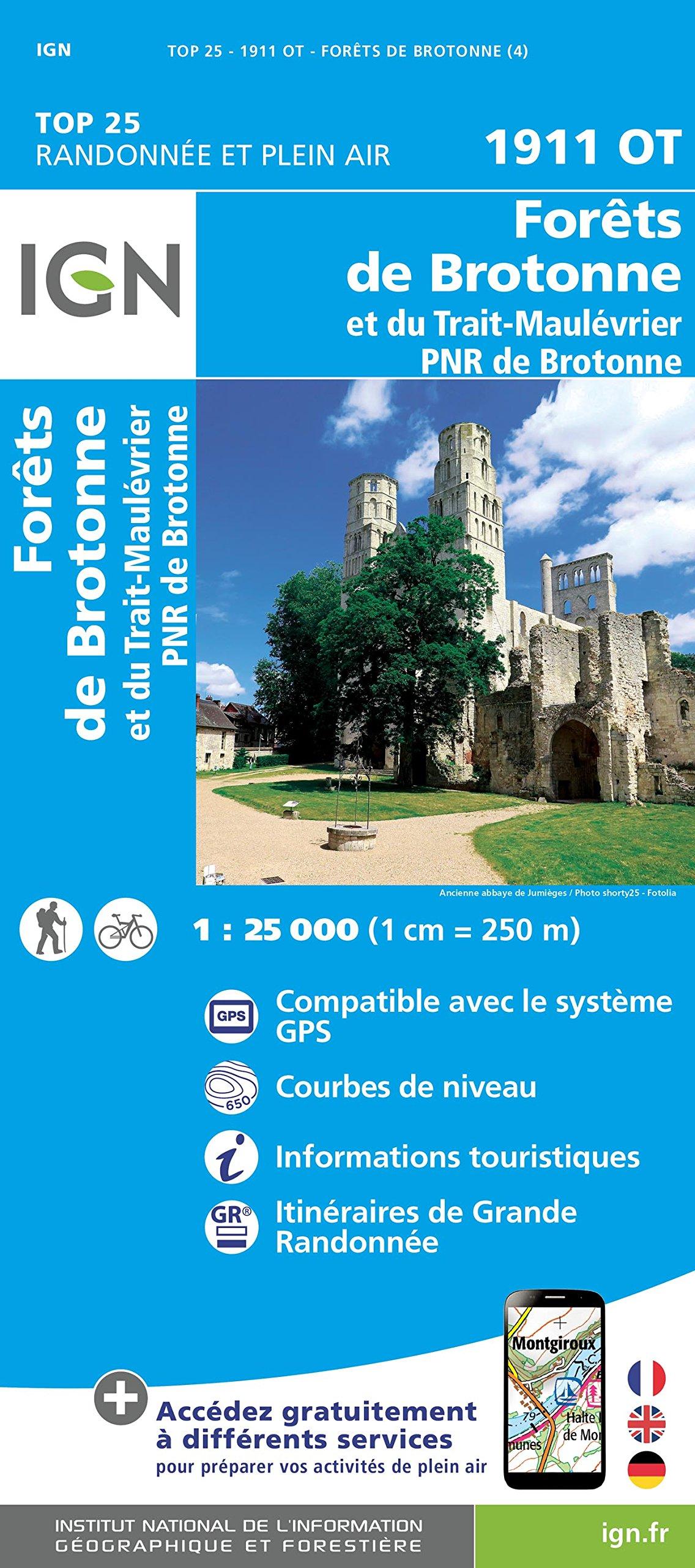 1911OT Parc de Brotonne | wandelkaart 1:25.000 9782758539551  IGN IGN 25 Normandië  Wandelkaarten Normandië