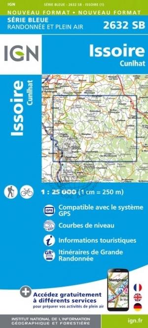 SB-2632SB  Issoire, Cunlhat   | wandelkaart 1:25.000 9782758539612  IGN IGN 25 Auvergne  Wandelkaarten Auvergne