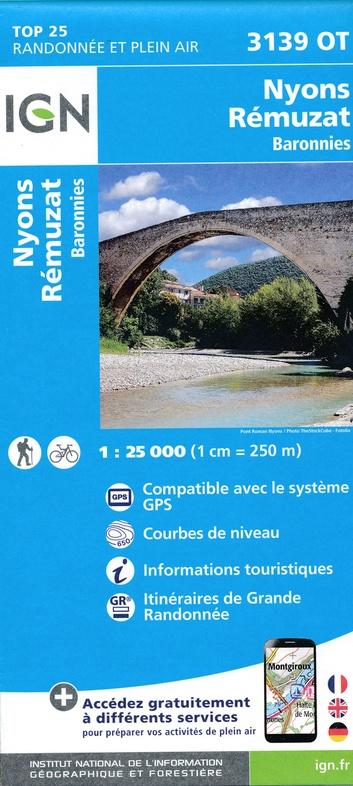 3139OT  Nyons, Rémuzat | wandelkaart 1:25.000 9782758539742  IGN IGN 25 Provence  Wandelkaarten Ardèche, Drôme, Provence, Marseille, Camargue