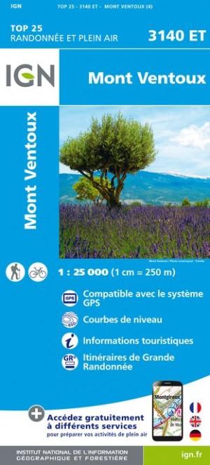 3140ET   Mont Ventoux | wandelkaart 1:25.000 9782758539759  IGN IGN 25 Provence  Wandelkaarten Provence, Marseille, Camargue