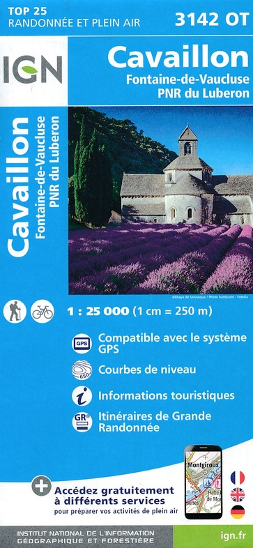 3142OT   Fontaine-de-Vaucluse, Gordes | wandelkaart 1:25.000 9782758539766  IGN IGN 25 Provence  Wandelkaarten Provence, Marseille, Camargue
