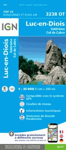 3238OT  Luc-en-Diois | wandelkaart 1:25.000 9782758539827  IGN IGN 25 Ardèche / Drôme  Wandelkaarten Ardèche, Drôme