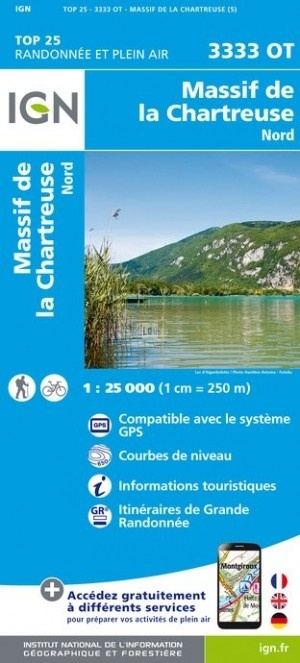 3333OT  Chartreuse/Nord | wandelkaart 1:25.000 9782758539872  IGN TOP 25  Wandelkaarten Franse Alpen: noord