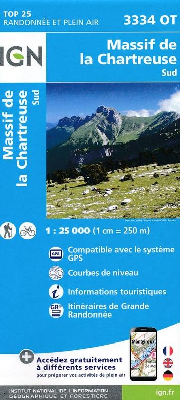 3334OT  Chartreuse Sud | wandelkaart 1:25.000 9782758539889  IGN IGN 25 Franse Alpen/ Nrd.helft  Wandelkaarten Franse Alpen: noord