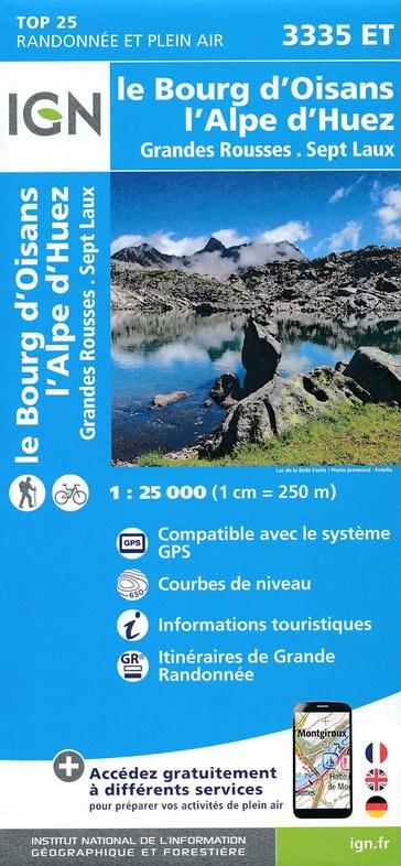 3335ET Alpe d'Huez, Le Bourg d'Oisans | wandelkaart 1:25.000 9782758539896  IGN TOP 25  Wandelkaarten Franse Alpen: zuid