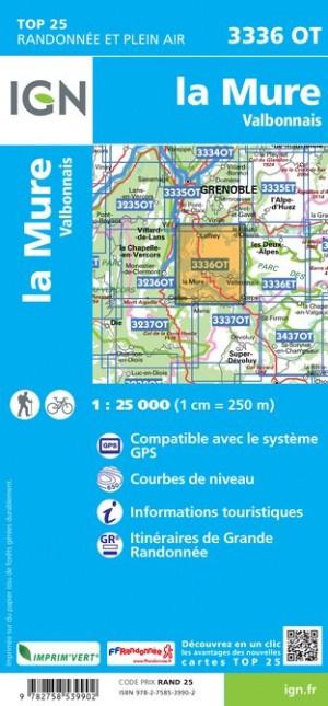 3336OT  La Mure,Valbonnais | wandelkaart 1:25.000 9782758539902  IGN TOP 25  Wandelkaarten Franse Alpen: zuid