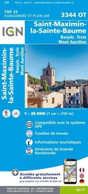 3344OT  St-Maximin-la-Ste-Baume | wandelkaart 1:25.000 9782758539964  IGN IGN 25 Provence  Wandelkaarten Côte d'Azur, Provence, Marseille, Camargue