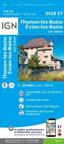 3428ET  Thonon, Evian | wandelkaart 1:25.000 9782758539971  IGN IGN 25 Franse Alpen/ Nrd.helft  Wandelkaarten Franse Alpen: noord