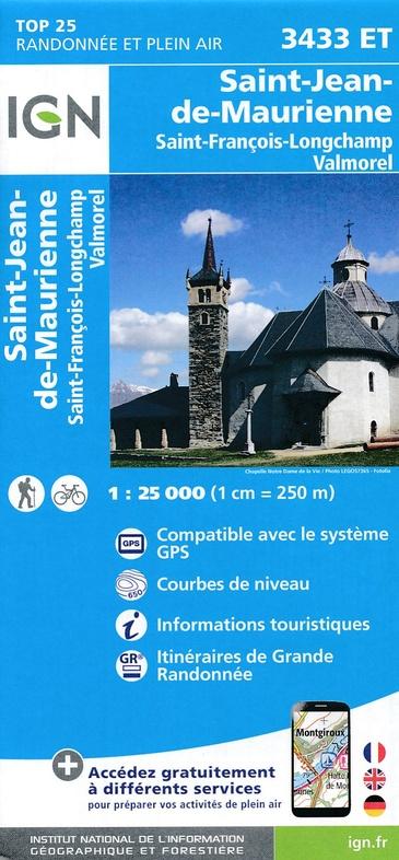 3433ET  Col de la Madeleine | wandelkaart 1:25.000 9782758540038  IGN IGN 25 Franse Alpen/ Nrd.helft  Wandelkaarten Franse Alpen: noord