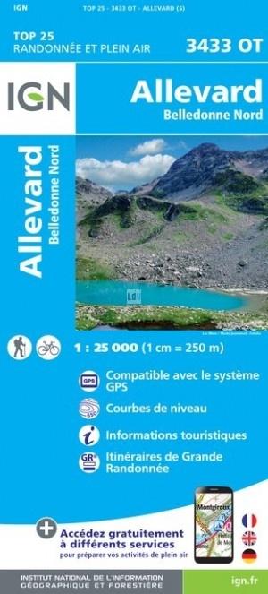 3433OT Allevard, La Rochette | wandelkaart 1:25.000 9782758540045  IGN IGN 25 Franse Alpen/ Nrd.helft  Wandelkaarten Franse Alpen: noord
