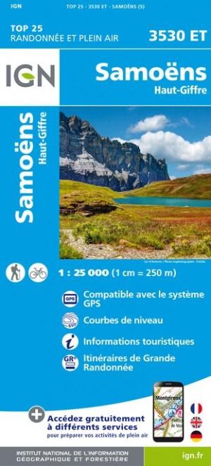 3530ET Samoëns, Haut Giffre | wandelkaart 1:25.000 9782758540069  IGN IGN 25 Franse Alpen/ Nrd.helft  Wandelkaarten Franse Alpen: noord