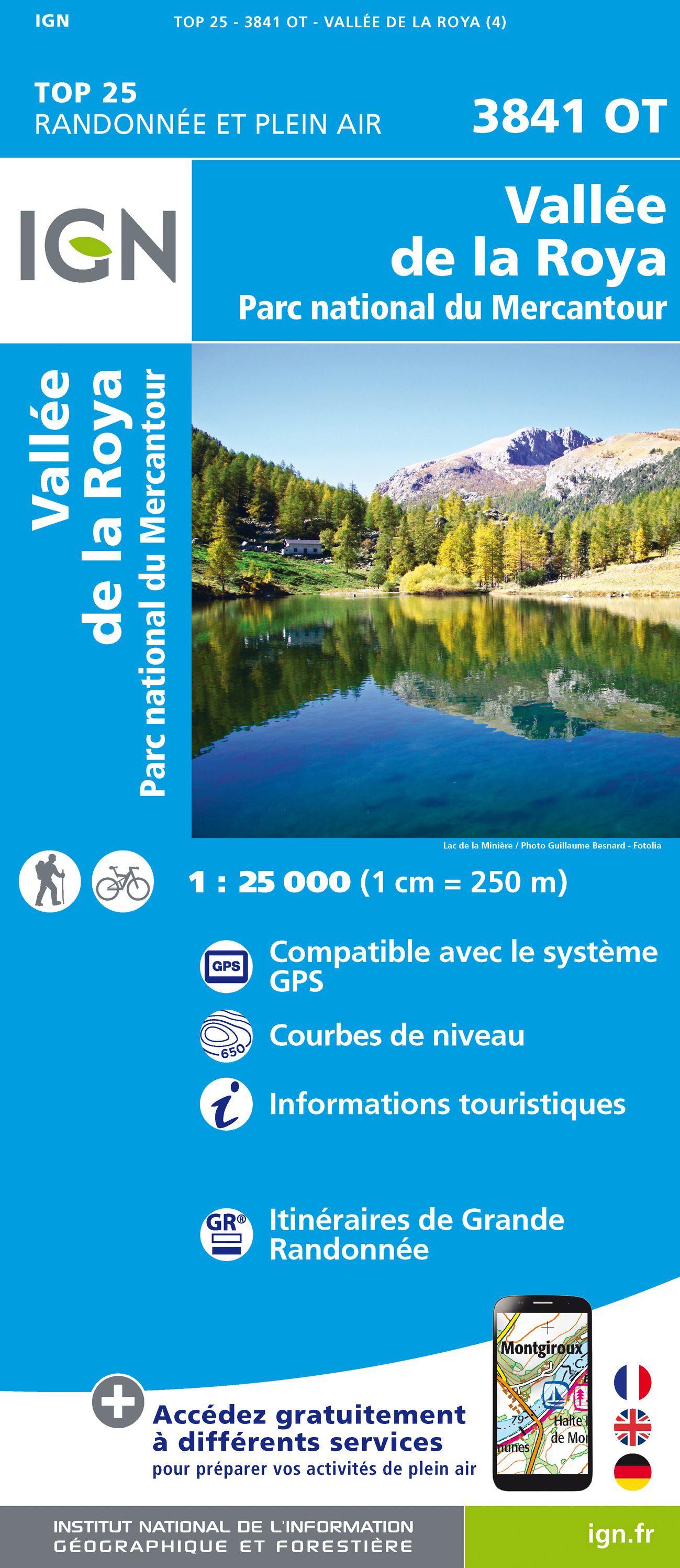 3841OT  Vallée de la Roya | wandelkaart 1:25.000 9782758540397  IGN TOP 25  Wandelkaarten Franse Alpen: zuid