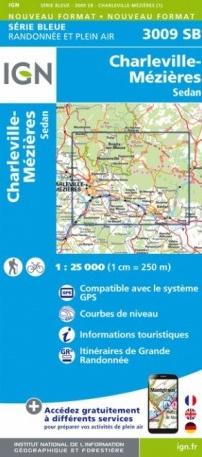SB-3009SB  Charleville-Mézieres, Sedan  | wandelkaart 1:25.000 9782758540656  IGN Serie Bleue (vernieuwd)  Wandelkaarten Champagne, Franse Ardennen