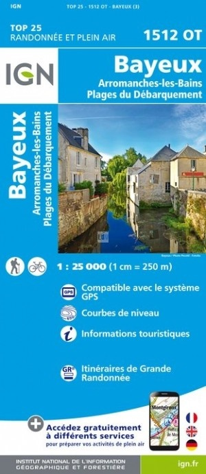 1512OT  Bayeux, Port-en-Bessin | wandelkaart 1:25.000 9782758540960  IGN IGN 25 Normandië  Wandelkaarten Normandië