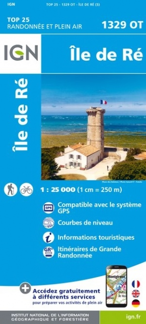 1329OT Île de Ré | wandelkaart 1:25.000 9782758541073  IGN TOP 25  Wandelkaarten Vendée, Charente