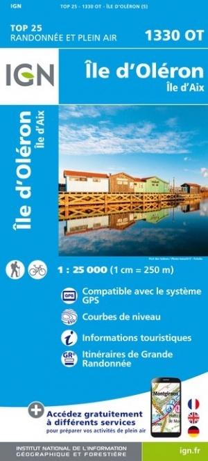 1330OT   Île-d'Oléron, île d'Aix | wandelkaart 1:25.000 9782758541080  IGN IGN 25 Charente, Vendée  Wandelkaarten Vendée, Charente