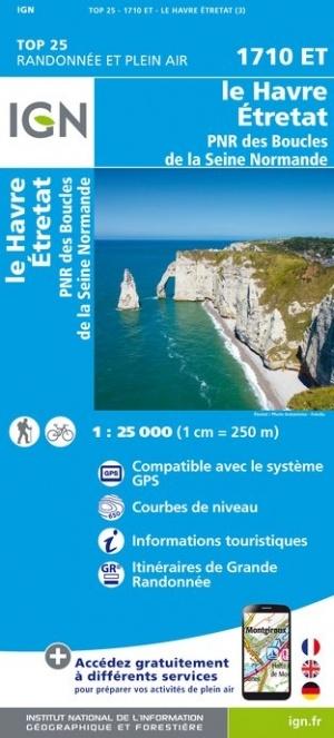 1710ET  Côte-d'Albâtre Étretat,Le Havre | wandelkaart 1:25.000 9782758541356  IGN IGN 25 Normandië  Wandelkaarten Normandië