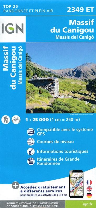 2349ET   Pic du Canigou | wandelkaart 1:25.000 9782758541523  IGN IGN 25 Franse Pyreneeën  Wandelkaarten Franse Pyreneeën