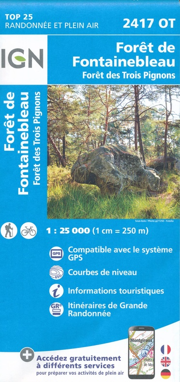 2417OT  Fontainebleau | wandelkaart 1:25.000 9782758541530  IGN IGN 25 Île-de-France  Wandelkaarten Parijs, Île-de-France