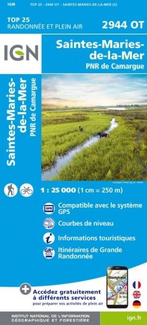 2944OT  Camargue, Ste-Marie-de-la-Mer | wandelkaart 1:25.000 9782758541660  IGN IGN 25 Provence  Wandelkaarten Provence, Marseille, Camargue