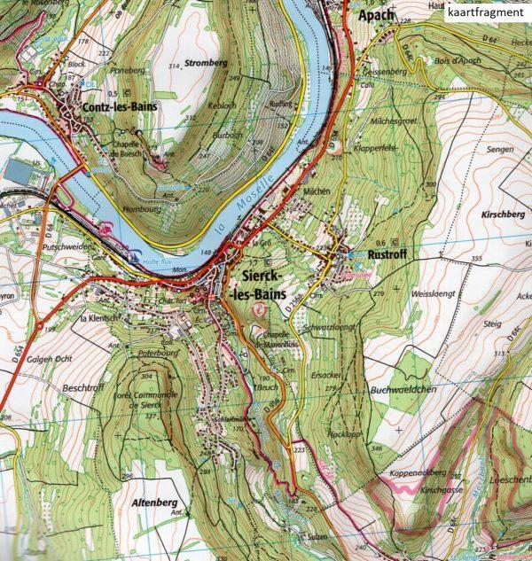 wandelkaart 3411-SB Thionville - Sierck-les-Bains 1:25.000 9782758541899  IGN IGN 25 Lotharingen  Wandelkaarten Lotharingen, Nancy, Metz