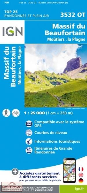 3532OT Massif du Beaufortain, Moutiers | wandelkaart 1:25.000 9782758541950  IGN IGN 25 Franse Alpen/ Nrd.helft  Wandelkaarten Franse Alpen: noord