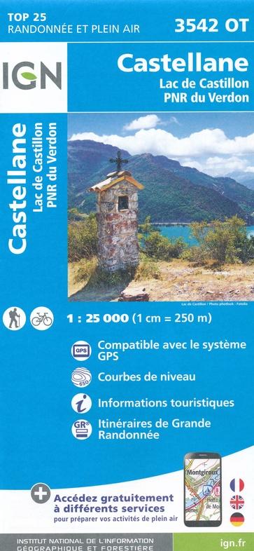 3542OT  Castellane, Lac de Castillon | wandelkaart 1:25.000 9782758541967  IGN IGN 25 Franse Alpen/ zuidhelft  Wandelkaarten Franse Alpen: zuid