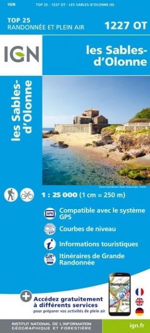 1227OT Sables d'Olonne, Olonne-sur-Mer | wandelkaart 1:25.000 9782758542605  IGN TOP 25  Wandelkaarten Vendée, Charente
